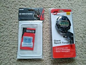 FRANKLIN QB WRISTBAND AND SPORTLINE GIANT TIMER WHISTLE INCLUDED