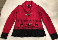 Girls Ralph Lauren Holiday Fleece Toggle Jacket/Top Size XL (16) EUC