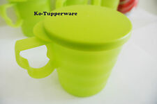 1 set Blossom Mugs & Seals green casual entertaining 350ml Tupperware