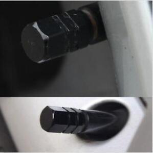 Black Aluminium Car Tire Valves Decorate Covers Trim 4PCS/SET Auto Accessories