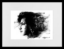 Amy Winehouse/Back to Black /LE Drucken von Original-Aquarell von Hahonin Sergej