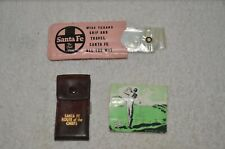 New listing Santa Fe Railroad Clothes Bag, Nail Cleaner Pack, and Golf Tee Pack
