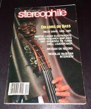 Vintage December 1991 Stereophile Magazine Martin-Logan Snell Koetsu Free Ship