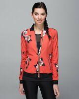 Lululemon Club Jacket in Atomic Flower Parfait Pink/Atomic Red/Black Rose Gold 6