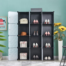 12-Cube Diy Portable Closet Storage Organizer Clothes Wardrobe Cabinet W/ Doors