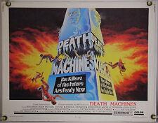 DEATH MACHINES ROLLED ORIG HALF-SHEET MOVIE POSTER DRIVE-IN KARATE TRASH (1976)