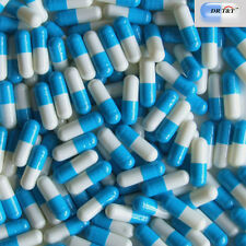 DR T&T 100 Empty blue white Gelatine Gelatin capsules filling size 00 size00