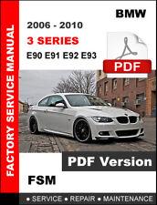 BMW 3 SERIES 2006 2007 2008 2009 2010 WORKSHOP SERVICE REPAIR FACTORY MANUAL