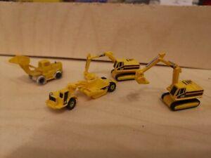 Konvolut, Bagger, Baustellenfahrzeuge, Spur N,  1:160