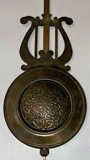 Vintage Wall Clock Brass Pendulum