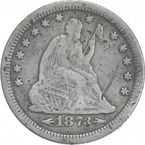 1873-S Seated Liberty Quarter - Charles Coin Collection *934