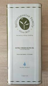 Greek Extra Virgin Olive Oil Cold Extraction Exceptional Quality 5 Litres