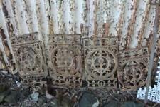 Four Victorian Cast Iron Balastrade Lacework Panels - Wall Art