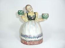Ausgefallener seltener Kerzenständer um 1900 Karlsruhe ? Gmunder Keramik ? Gmund