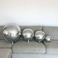 "Silver Orb Balloons Orbz Orbs Round Balloons 32"", 22"", 18"" & 10"""