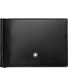 Portafoglio Wallet Montblanc Meisterstuck clip fermasoldi 6cc 118295 nero blu