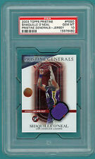 2003 Topps Pristine Shaquille O'Neal, Game Used Jersey- #BGSO PSA 10! Lakers!