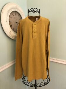 GANDER MOUNTAIN Yellow Thermal Long Sleeve Hebley Large Mens NWT