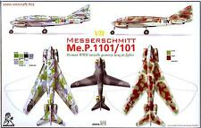 Unicraft Models 1/72 MESSERSCHMITT Me.P.1101/101 Variable Geometry Wing Fighter