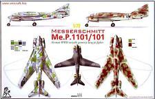 Unicraft Models 1/72 MESSERSCHMITT Me.P.1101/101 Variable Geometry Wing Fighter