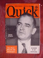 QUICK Pocket magazine May 25 1953 Senator Joseph McCarthy