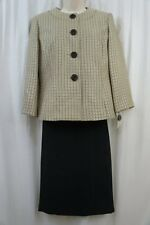 Evan Picone Skirt Suit Sz 4 Champagne Multi Park Avenue Woven Career Business