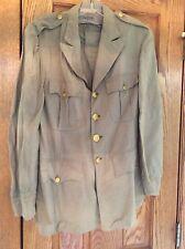 Vintage WWII US Army Khaki Summer Tan Dress Jacket size 37 Regular