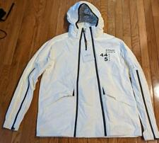 """$1275 Moncler """"Tyler"""" Paper-Touch Double Zip Jacket White 5 US 2XL"""