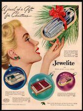 1949 JEWELITE Roll Wave Brush - Christmas- Sexy Woman - VINTAGE AD