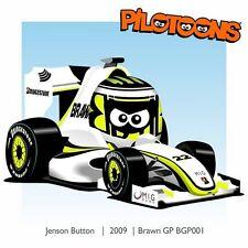 Print on Canvas Brawn GP BGP001 2009 #22 Jenson Button by BM