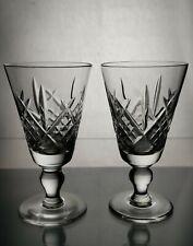 More details for royal doulton crystal vintage sherry glasses julia x 2
