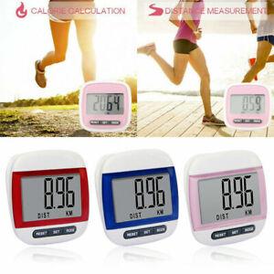 LCD Belt Clip Digital Pedometer Walking Steps Count Distance Calorie Counter