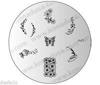 1 IMAGE PLATE M41 Konad Stamping Nail Art Design Nails