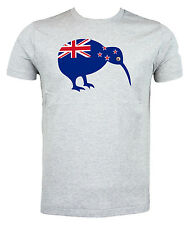 New Zealand Flag Kiwi Bird T shirt, Choice of size & colours.
