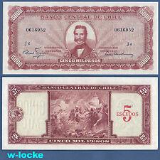 Cile 5 escudos on 5000 pesos (1960-61) p.130 UNC