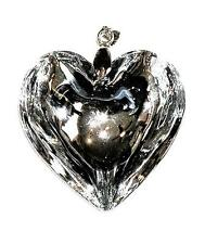 PENDANT/NECKLACE ST Glass Crystal Large FLUID CLEAR HEART
