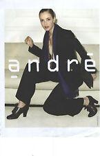 PUBLICITE ADVERTISING    2006  ANDRE chaussures modèle automne Hiver