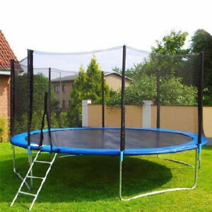 8Ft Trampoline For Kids and Teens With Safety Protection Jumping Pad Net Outdoor