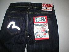 New NWT Womens Designer Evisu Hana Reflective Jeans Slim Dark 28 Private Stock