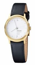Genuine Leather Band Women's Brushed Wristwatches