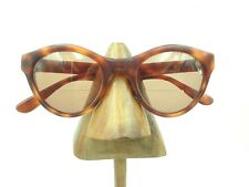 Vintage Brown Tortoise Round Oval Cat Eye Eyeglasses Sunglasses Frames