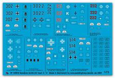 1/72 étiquette pour 8 sd. KFZ 251 exéc C et D 1869