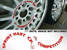 """15"""" Sprint Hart CP-R (Set of 5) For Competition Decals Sticker JDM Rota Track R"""