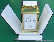 L'EPEE FRENCH GRANDE CORNICHE ALARM STRIKING REPEATER CARRIAGE CLOCK ORIGINALBOX
