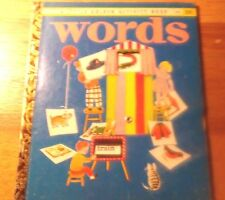 Rare Old Vintage Little Golden Book Activity Book Words (B) 1955 W/ Wheel