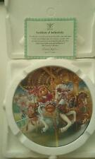 "NEW TEDDY BEAR FAIR ""HERE WE GO 'ROUND"" COLLECTOR PLATE CERTIFICATE IN BOX NIB"