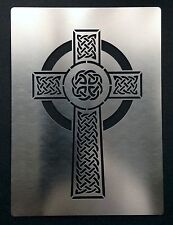 Celtic Cross Stainless Steel Metal Stencil Template Craft Airbrush 90mm x 59mm