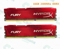 Pour Kingston HyperX 64GB 32GB 16GB PC4-19200 DDR4-2400MHz Red Desktop Memory A+