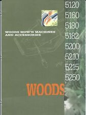 Lawn Equipment Brochure - Woods - 5120 5250 et al - Riding Mower - 1994 (LG58)