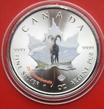 Kanada: Canada Wildlife 5 Dollars 2014, 1 Oz/Unze Silber, F#1885, Coloriert